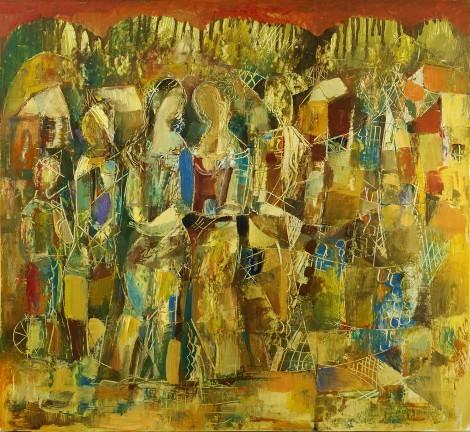 Festive Sunday, an art piece by Seyran Gasparyan