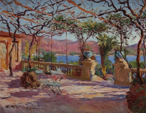 Terrasse à Antibes, an art piece by Charles Atamian