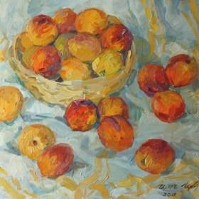 Peaches of Armenia, an art piece by Armen Atayan