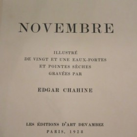 Gustave Flaubert - Novembre, illustrated by Edgar Chahine, an art piece by Edgar Chahine