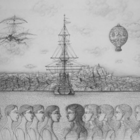 Communication, an art piece by Jean Carzou