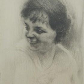 """La rieuse""; ""Colline Poggio"", an art piece by Edgar Chahine"