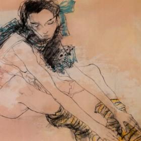 Le Ruban Bleu, an art piece by Jean Jansem