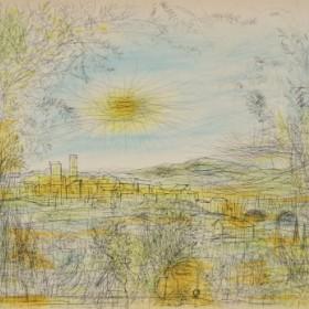 Paysage, an art piece by Jean Carzou