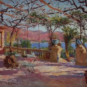 Terrasse à Antibes, an art piece by Charles Atamian