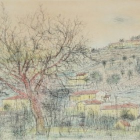 Paysage de Provence, an art piece by Jean Carzou